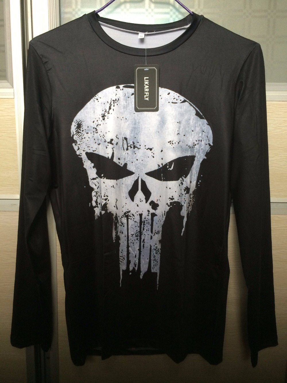 Punisher 3D Printed T-shirts Men Compression Shirts Long Sleeve Cosplay Costume crossfit fitness Clothing Tops Male Black Friday 23