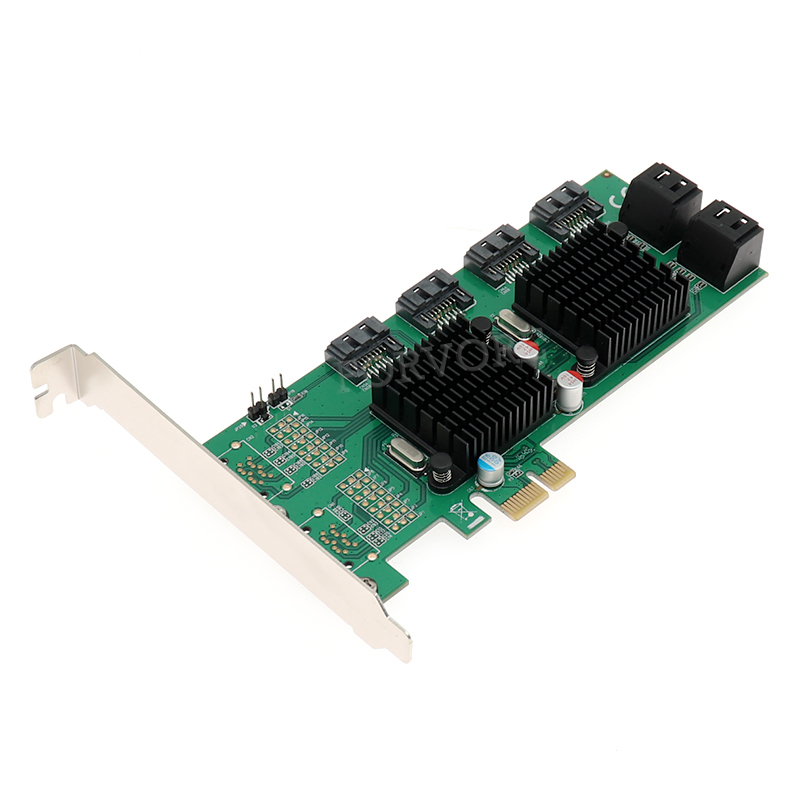PCI E SATA3 0 expansion card 8 port SATA3 SATA III 6G Marvell double chip