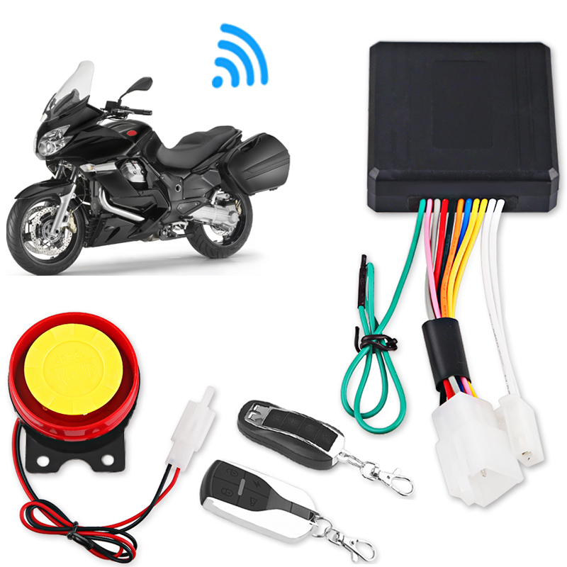 12V Motorcycle Bike Anti-theft Security Alarm System Remote Control Theft Protection Key Shell Engine Start Scooter Moto Alarm