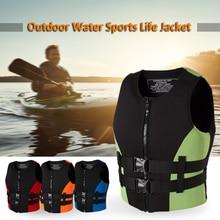 ネオプレン釣りライフジャケットウォータースポーツカヤックボート漂流安全ライフベスト水スポーツ安全男ジャケットxxlサイズ