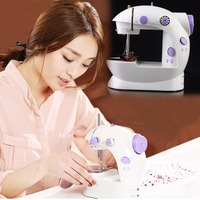 New Arrival Small Household Electric Mini Multi Function Portable Sewing Machine Sewing Tailor Knitting Machine Drop