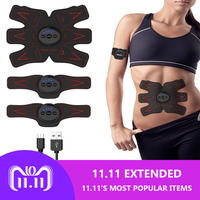 Fitness Rechargeable Abdominal Muscle Trainer Sport Press Stimulator absence Gym Equipment For training apparatus EMS Abdominal