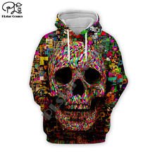Skull head print Men 3d Hoodies art Sweatshirts Funny Hip HOP Novelty Streetwear Hooded Autumn Jackets Male Tracksuits