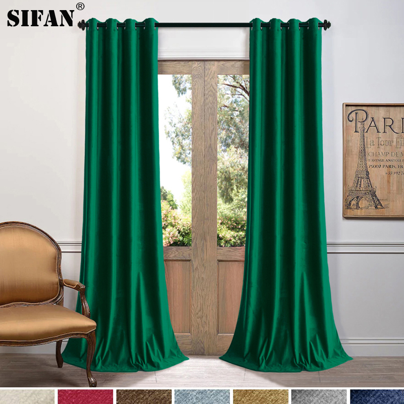 Top Grade Solid Color Matte Velvet Curtains for Bedroom Thick Fabric Curtains for Living Room Curtains Drapes Blinds Curtains     - title=