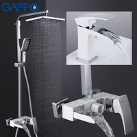 GAPPO смесители для душа ванная душевая ванна кран водопад душевая головка набор настенный кран Ванна Душевая система griferia