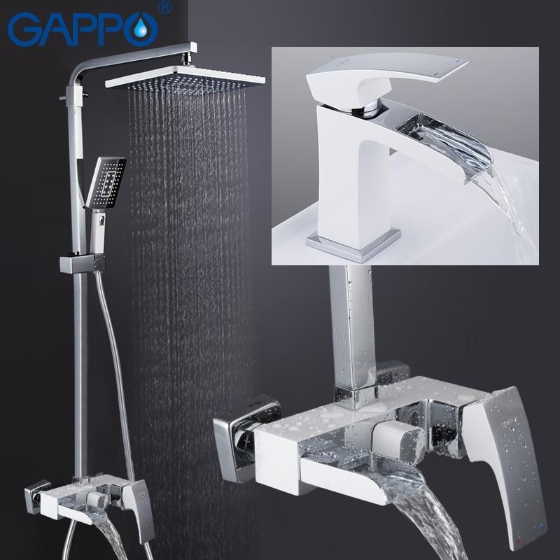 GAPPO robinets de douche salle de bain douche robinet de bain cascade pomme de douche ensemble mural robinet bain douche système griferia
