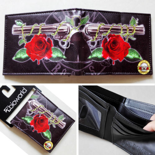 2018 New The music band Guns N' Roses G N' R GnR LOGO wallets Purse 12cm Leather W144 guns n' roses use your illusion i 2 lp