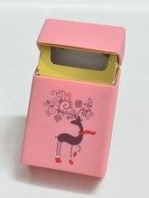 Силиконовый чехол для женской сигареты, силиконовая коробка с рисунком оленя для женщин, 20 сигарет, сигаретная коробка, чехол для силиконов...