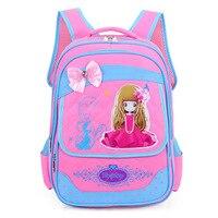 Su geçirmez oxford kumaş kızlar gençler için okul çantaları sırt çantası ilköğretim okulu öğrencileri sevimli pembe kitap çanta çocuk hediye