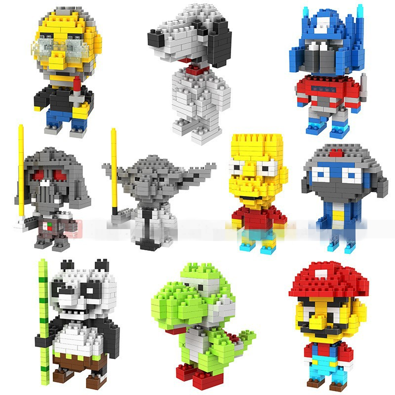 2016 Model Brinquedo LOZ Building Blocks Toys Minion Mario Yoda Figure Blocks Assembling Toys Child Small Building Blocks 2015 new gift smae as loz building blocks small animal minion mario transformation minifigures cartoon characters 3d bricks toys