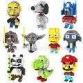 2016 modelo Brinquedo LOZ bloques de construcción de juguetes Minion Mario Yoda figura bloques de montaje de juguetes niño bloques de construcción
