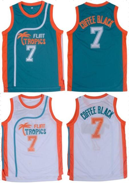 7  Throwback Basketball Jerseys Stitched Retro Movie Jersey Cool Shirt  Jackie Moon Flint Tropical Man White Green Street 0e1854271