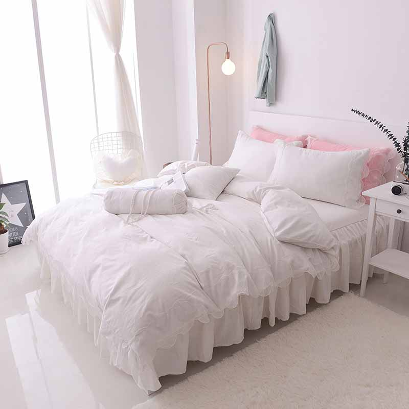 Princess luxury100% cotton wedding bedding set bed skirt lace style bed set duvet cover set king queen full size 7pcsPrincess luxury100% cotton wedding bedding set bed skirt lace style bed set duvet cover set king queen full size 7pcs