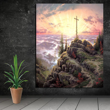 Thomas Kinkade Cross Wall Art Canvas Posters And Prints Painting Decorative Pictures For Office Living Room Home Decor HD
