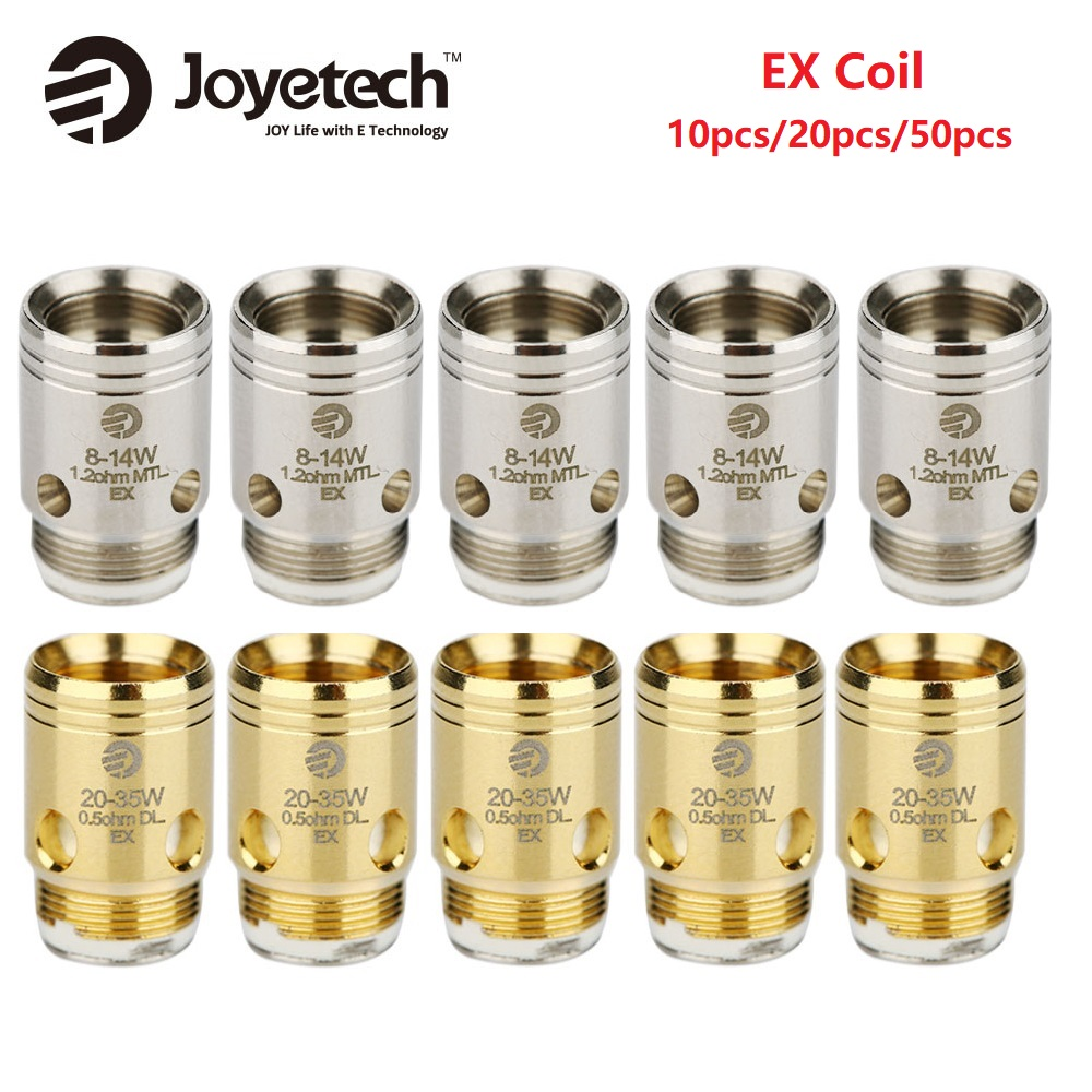 Original 10/20/50pcs Joyetech EX Coil Head 1.2ohm/0.5ohm Coil For Exceed Series Atomizers Spare Part For Exceed Tank E-cig Coil