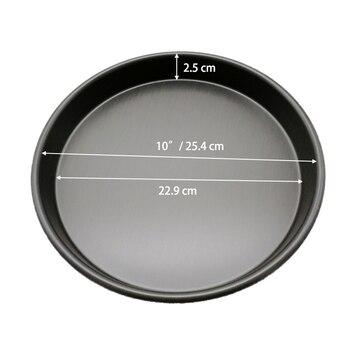 10 дюймов алюминиевый сплав круглый противень для пиццы пластины пирог лоток камень оптопары Кухня печь для выпечки Инструменты