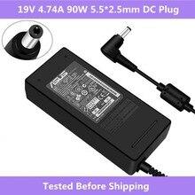 90W 19V 4.74A 5,5*2,5 мм AC зарядное устройство для адаптера для Aus A52F A53E A53S A53U A55A A55VD D550CA D550M D550MAV F555LA K501 ноутбук
