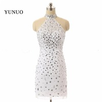 Real Photo High Quality Sexy Short Homecoming Dress Sheath Colorful Beading Vestidos De Festa Curto Cocktail Party Dress Summer