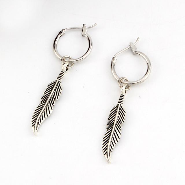 Women's Bohemian Feather Shaped Drop Earrings
