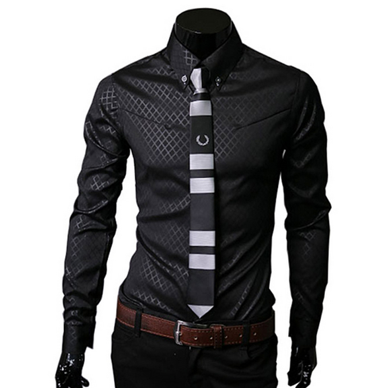 Popular Black Dress Shirt Mens-Buy Cheap Black Dress Shirt Mens ...