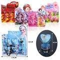 6 pçs/set Stamper Action Figure Bonecas Brinquedos dos desenhos animados dos artigos de papelaria Estilo Tão bonito educacional DIY selo conjunto de desenho Escola Do Partido brinquedos