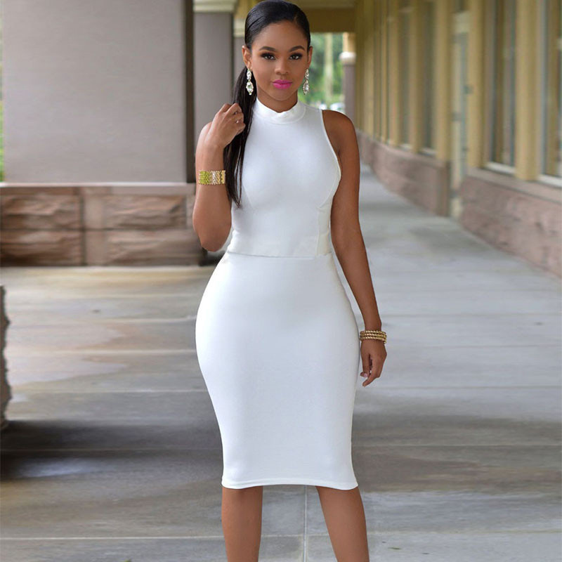 2017 SEXY Halter Pack hip 4XL SOLID TANK BASIC SCOOP NECK RACERBACK RIBBED CASUAL MAXI WOMEN SUMMER Tight DRESS Sleeveless Dress 2