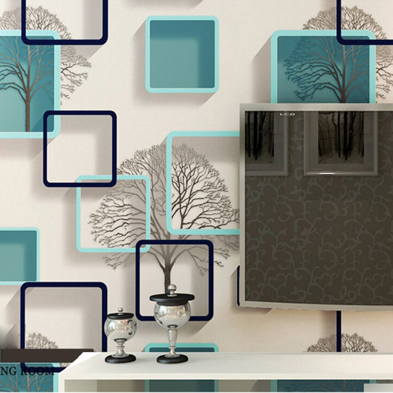 Modern Home Improvement Frame 3D Wallpapers Waterproof PVC Square Wall Paper for TV Bedroom Living Room Background Walls Mural damask wallpaper for walls 3d wall paper mural wallpapers silk for living room bedroom home improvement decorative
