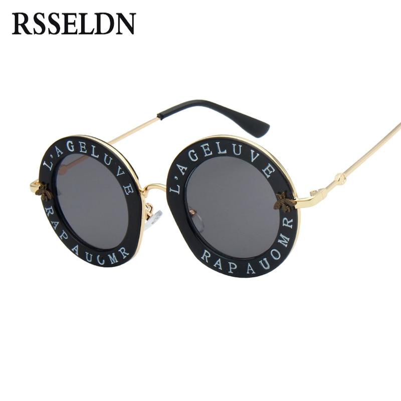 RSSELDN más reciente ronda moda gafas de sol mujer marca diseñador Vintage Gradient Shades gafas de sol UV400 Oculos Feminino Lentes