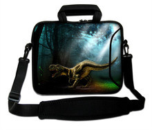 "Netbook Portable Carring Sleeve Bag Carnivorous Dinosaur Type Neoprene10""13""14""15""17""Laptop Handle Sling Cover Pouch For Toshiba"