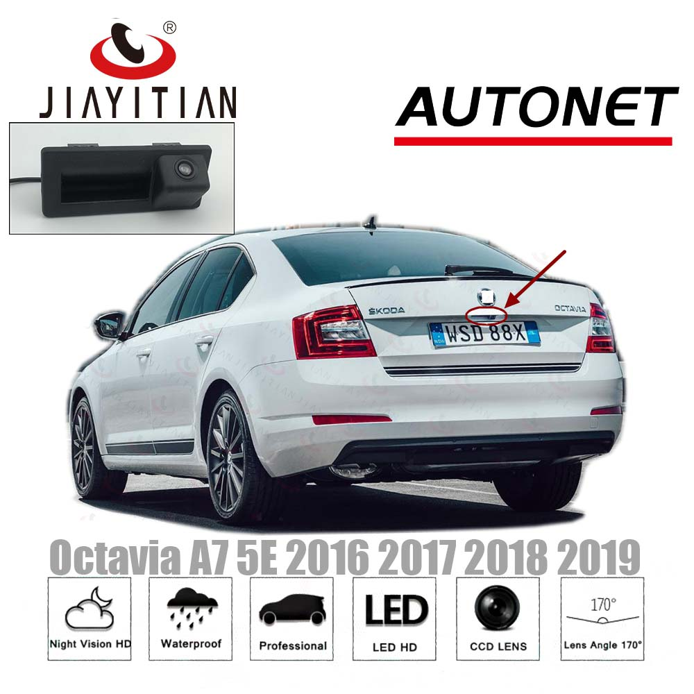 JIAYITIAN Rear View Camera For Skoda Octavia MK3 A7 5E 2014 2015 2016 2017 2018 Instead of Original Factory Trunk Handle CameraJIAYITIAN Rear View Camera For Skoda Octavia MK3 A7 5E 2014 2015 2016 2017 2018 Instead of Original Factory Trunk Handle Camera