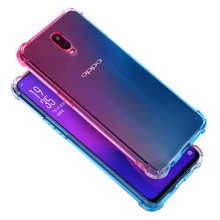 Full Body Rainbow Gradient Airbag Case for OPPO R17 Pro Rx17 Neo R15x R9S Plus R17 Cover Four Corners Schockproof Soft TPU Case пенная насадка autoexpert foam h для моек высокого давления huter stihl nilfisk