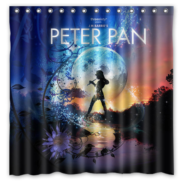 New Peter Pan Pattern Showerproof Polyester Bath Curtains High Quality Waterproof Shower Curtain Bathroom Decor 7171 Inch In From Home
