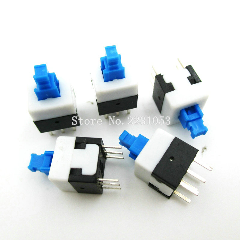 20PCS/Lot 8*8mm Non Locking Type Square Button Tactile Push Button Switch Momentary Tact DIP Through-Hole 6pin New Wholesale 10pcs lot opa227p opa227pa dip 8 100% new origina
