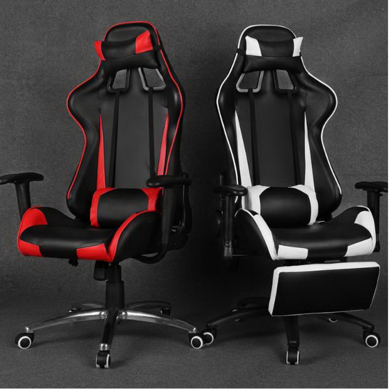 350101/massage Home office can lie down computer chair /gaming chair / boss massage chair /Wear-resistant microfiber PU leather 240320 home office can lie down high density inflatable sponge 360 degrees can be rotated computer chair boss massage chair