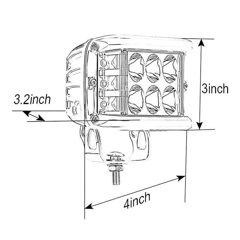 4 дюймов 45 Вт светодиодный три стороны бар светодиодный рабочий свет бар для вождения внедорожная лодка автомобиль тягач 4x4 внедорожник ATV 12 В 24 В