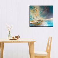 High Quality Artist Hand painted Modern Abstract Oil Painting on Canvas Abstract Yellow Oil Painting for Living Room Decoration