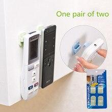 Пластиковые Крючки 2 пары(4 шт.) набор липких крючков ТВ кондиционер пульт дистанционного управления вешалка ключ практичный настенный держатель для хранения сильный