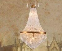 Candelabros de cristal de lujo  lámparas de cristal  lámparas de araña  accesorios de iluminación para sala de estar  Lámpara de cobre