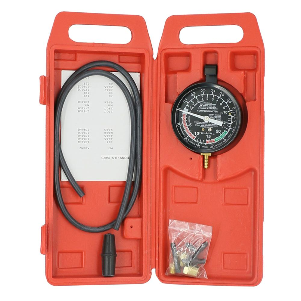 Vacuum Fuel Pump Pressure Tester Gauge 2 In 1 Carburettor Valve TU-1 Exhaust Pipe Blockage Detection
