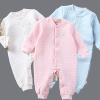 2017 Newborn Baby Long Sleeve Cotton Romper Spring Autumn Infant Toddler Jumpsuit Outerwear Overalls Coverall Suit