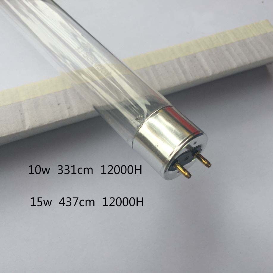 T8 Ultraviolet Lamps Domestic Germicidal Lamp 10W 15W Household Disinfection UV Lamp TUV ...