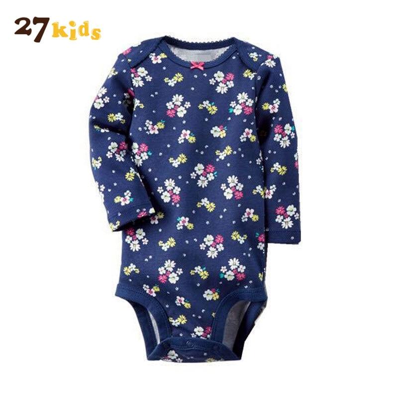 27Kids Autumn Baby Clothes Boys Girls Long Sleeves Infantil Jumpsuit Cotton Infant Romper Newborn Kids Bebes Pajamas Clothing