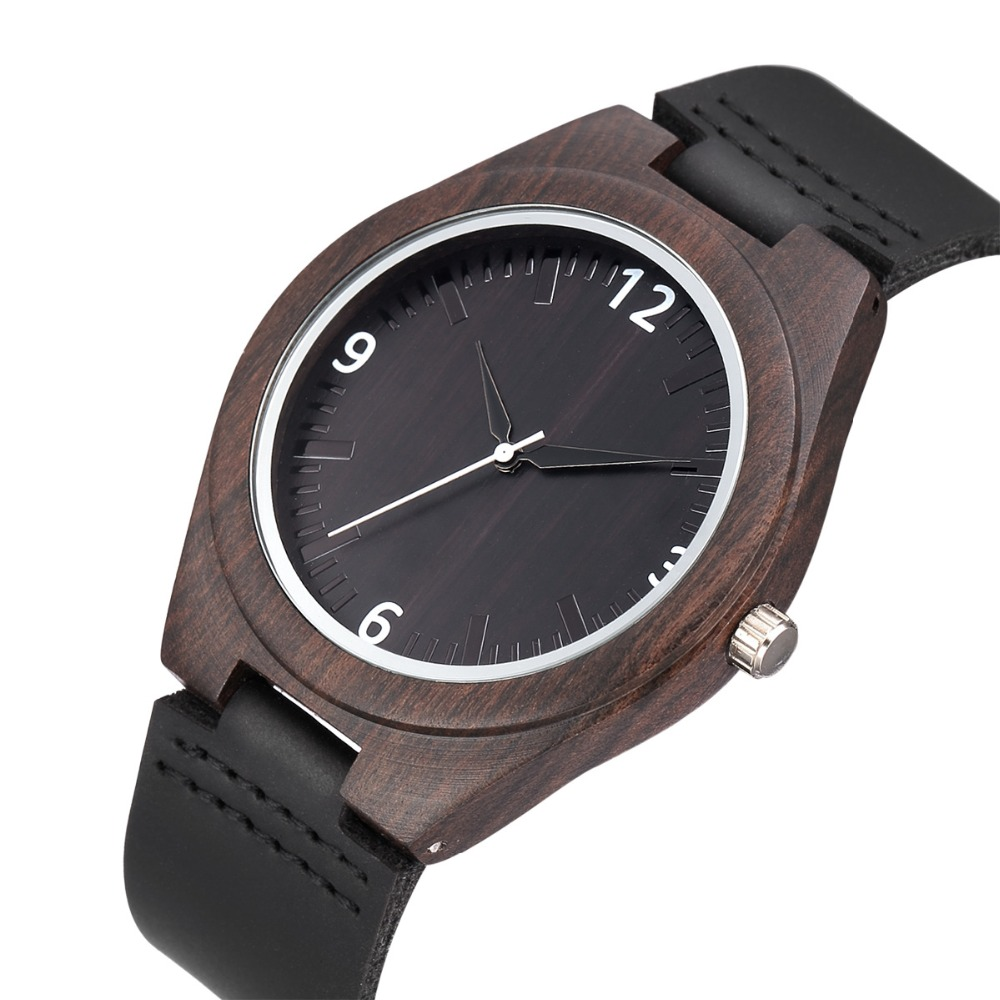 WEISIKAI Fashion Wooden Design Mens Womens Watches Casual Simple Leather Quartz Watch Scale Black Dial Wood Luxury Wristwatches (17)