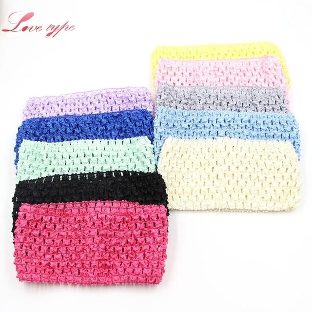 1pcs Tulle Tutu 15x7cm Crochet Elastic Knit Headbands Apparel Sewing