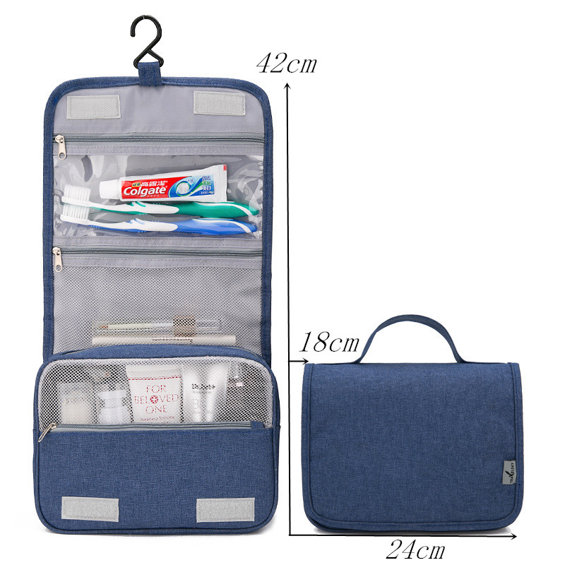 LHLYSGS Brand Waterproof Hanging Wash Toiletry Bag Women Travel ... 2473718cc625d