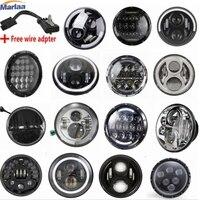 7 LED Headlight For Harley Davidson Motorcycle Projector Daymaker LED Light Bulb Headlamp H4 H13 Hi