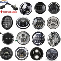 7 LED Headlight For Harley Davidson Motorcycle Projector Daymaker LED Light Bulb Headlamp H4 H13 Motorcycle Headlight