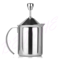 Thickened Double Milk Frother Manually Play The Milk Coffee Cup Milk Pot Milk Bubble Machine