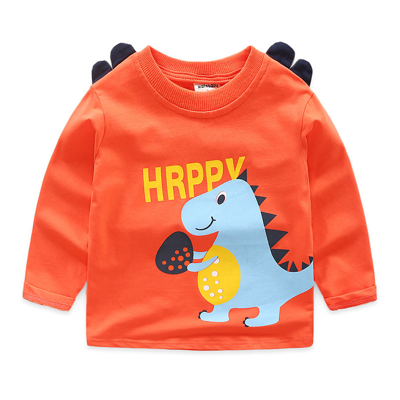 Cotton Pullover Tees Children Clothing Kids Cute Animals Sweatshirt Spring Autumn Boys Long Sleeve Tops Baby BC159