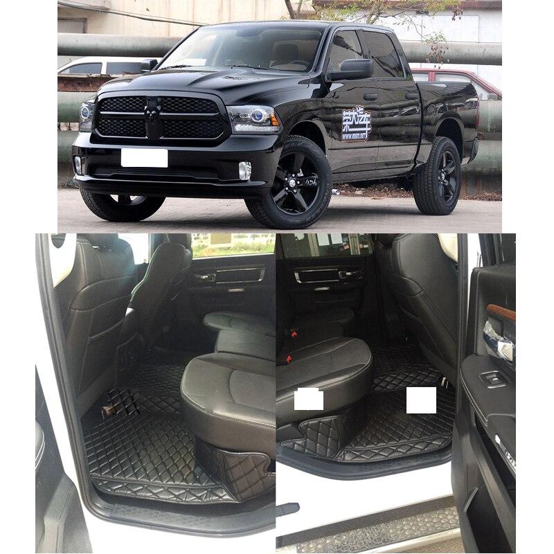 Lsrtw2017 Leather Car Floor Mats For Dodge Ram 1500 2500 3500 2009-2018 2017 2016 2015 2014 2013 2012 Accessories